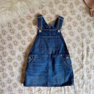 Baby Gap | denim overall pinafore jumper dress